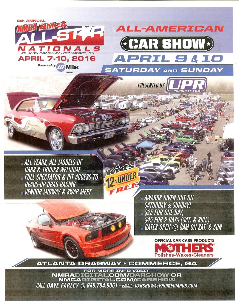 8th Annual NMRA All-Star Nationals Flyer, April 2016