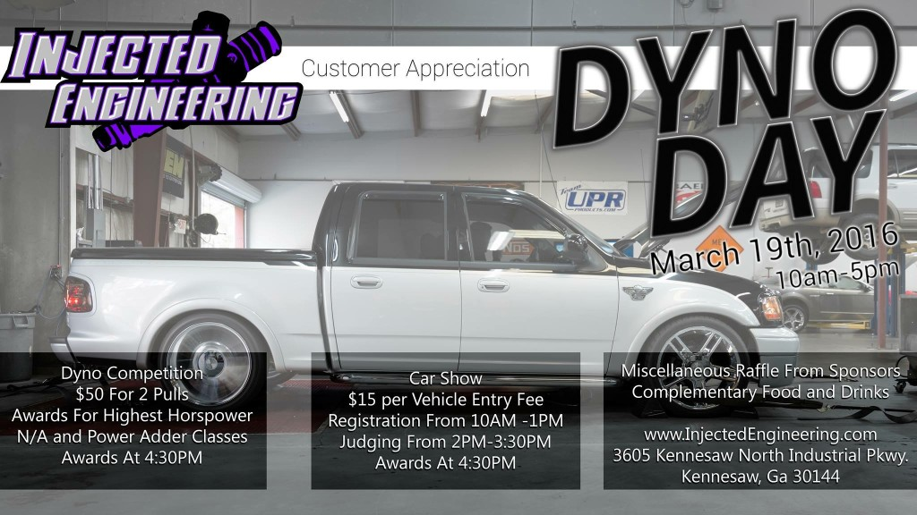 Injected Engineering Dyno Day & Car Show Flyer, 2016