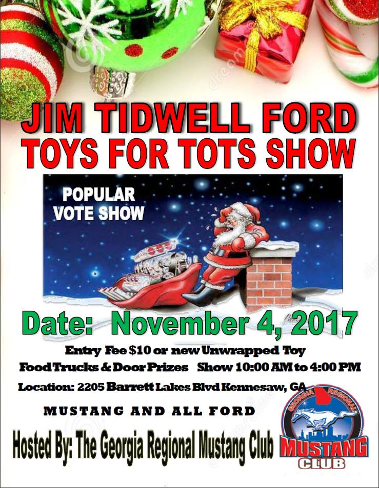Jim Tidwell Ford Toys For Tots Show, November 4, 2017